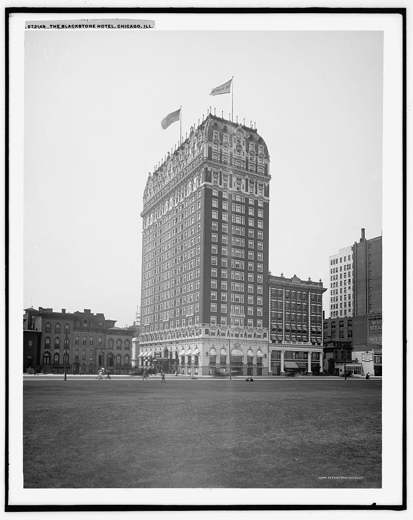 Blackstone Hotel, photo courtesy Library of Congress
