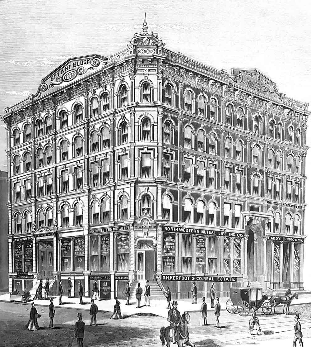 The Delaware Building in 1874