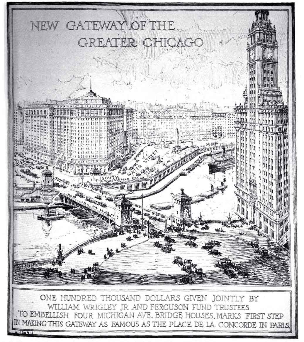 Michigan Avenue Bridge 1922 - New Gateway Center
